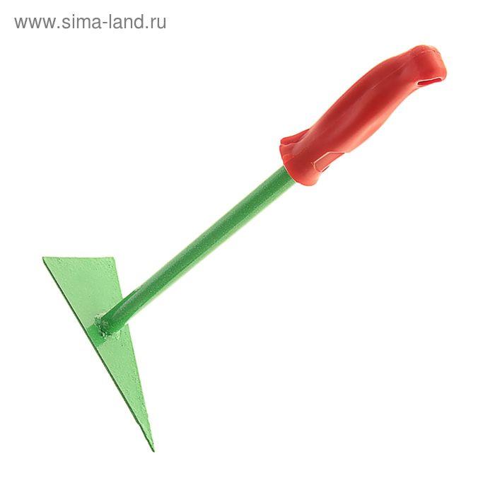 Рыхлитель универсальный гнутый с  металлическим  черенком  и пластиковой ручкой