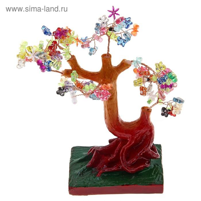 "Денежное дерево ""Цветочки и бабочки"""