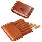 Портсигар светло-коричневого цвета для 6 сигарет