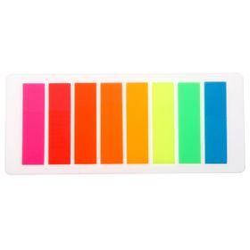 Блок-закладка с липким краем пластик 15л*8 флуор МИКС в блистере Школа талантов Ош