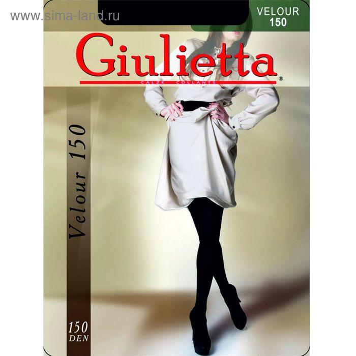 Колготки женские Giulietta VELOUR 150 (nero, 4) микрофибра