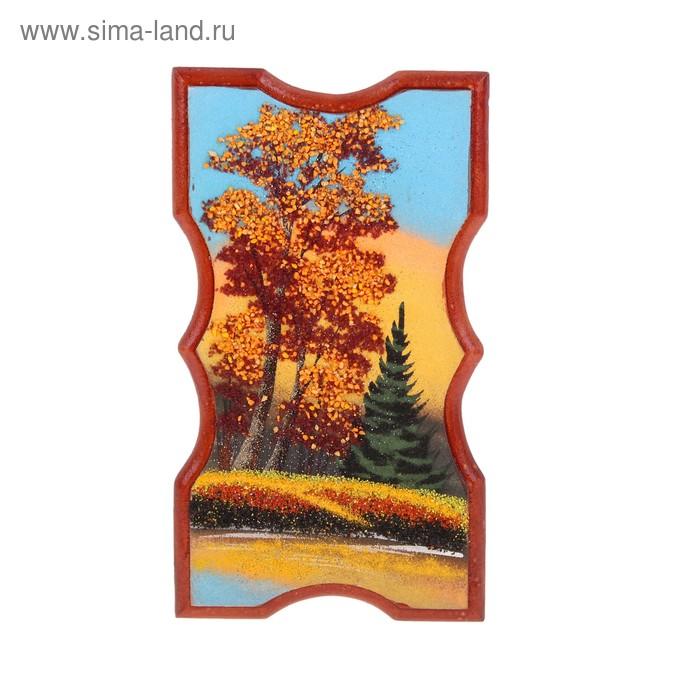 Картина прямоугольная №2 13х23 см каменная крошка