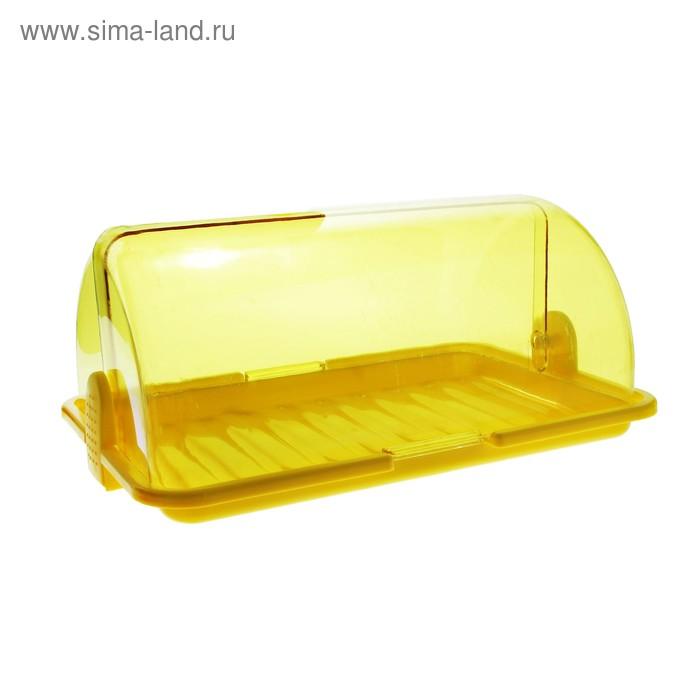 """Хлебница """"Уют"""", средняя, цвет желтый"""