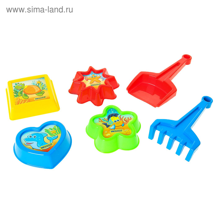 """Песочный набор """"Летний"""", 6 предметов, МИКС"""