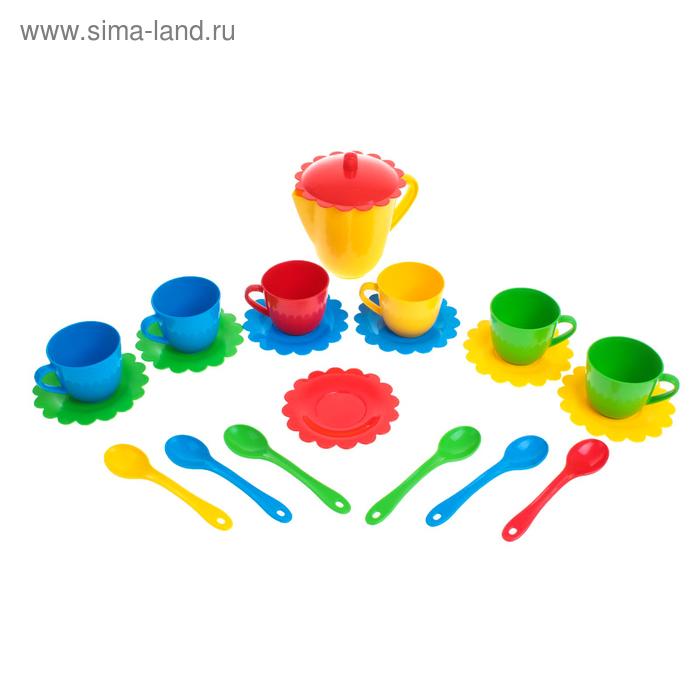 """Набор посуды с чайником """"Ромашка"""" люкс, на 6 персон, цвета МИКС"""
