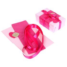 Набор для упаковки подарка 'Фламинго' (бумага упаковочная+декор) Ош