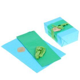 Набор для упаковки подарка 'Морская волна' (бумага упаковочная+декор) Ош