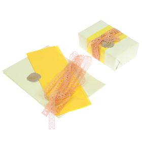 Набор для упаковки подарка 'Нежность' (бумага упаковочная+декор) Ош