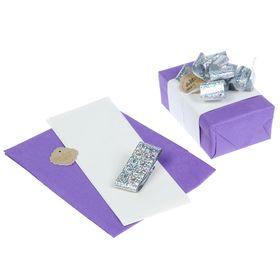 Набор для упаковки подарка 'Орхидея' (бумага упаковочная+декор) Ош