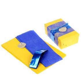 Набор для упаковки подарка 'Контраст' (бумага упаковочная+декор) Ош
