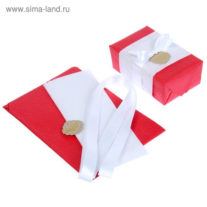 """Набор для упаковки подарка """"Фламенко"""" (бумага упаковочная+декор),"""