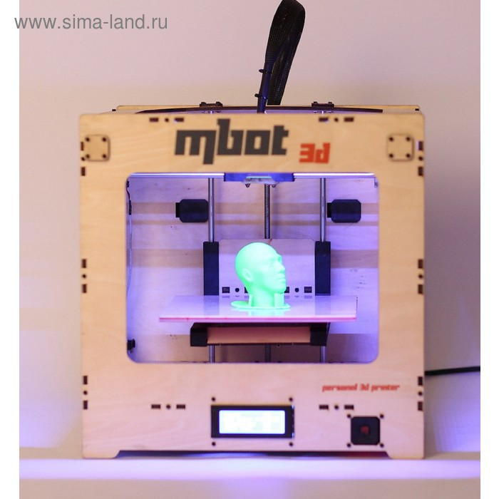 3D принтер MBot, одна печатающая головка, максимальный размер изделия 200 х 200 х 200 мм, деревянный корпус