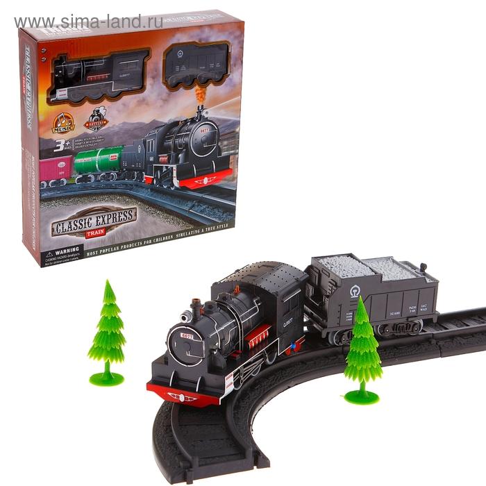 """Железная дорога """"Классический экспресс"""", работает от батареек, звуковые эффекты"""