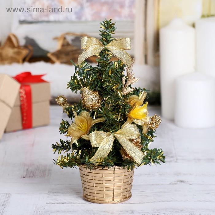 """Ёлка декорированная """"Золотые цветы"""""""