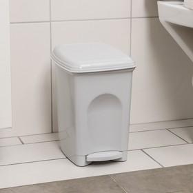"""Контейнер для мусора 7 л """"Педальный"""", цвет серый"""