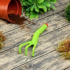 Рыхлитель, длина 21 см, 3 зубца, пластиковый, зелёный