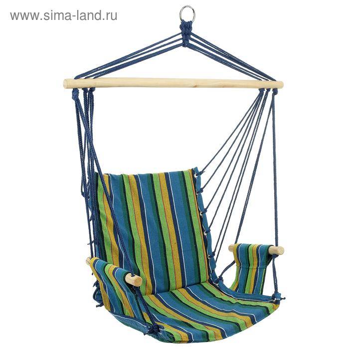 Гамак-кресло со спинкой, хлопок, МИКС