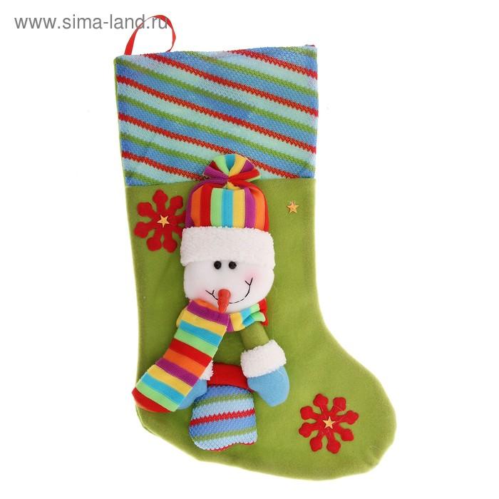 "Носок для подарка ""Снеговик в варежках"""