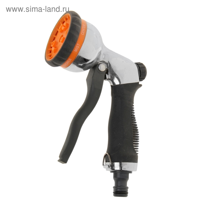 Пистолет-распылитель 7 режимов, штуцер, обрезиненая рукоять, алюминий ABS-пластик 150