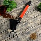Мотыжка комбинированная, телескопическая, длина 70-100 см, прорезиненная ручка