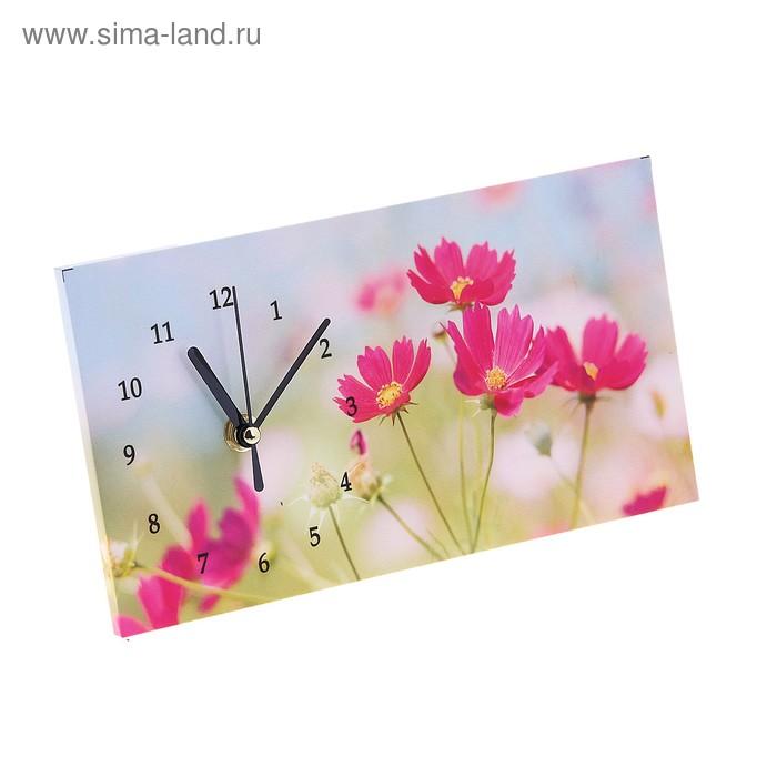 """Часы настольные """"Ромашки розовые"""""""