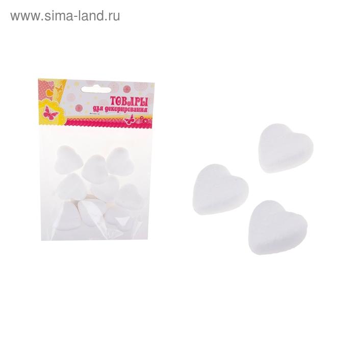 """Фигурка для поделок и декорирования """"Сердце"""" (набор 12 шт), размер 1 шт 3*2,5"""