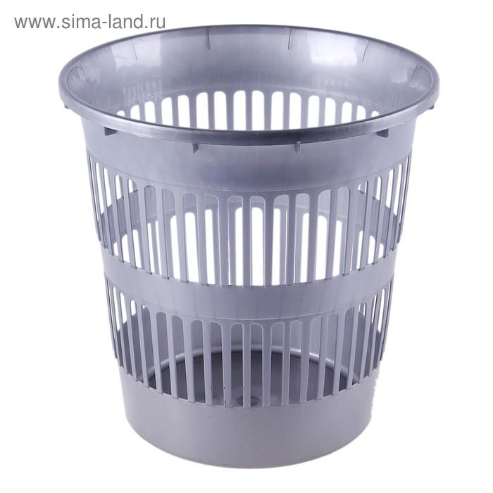 Корзина для мусора 15 л, цвет серый