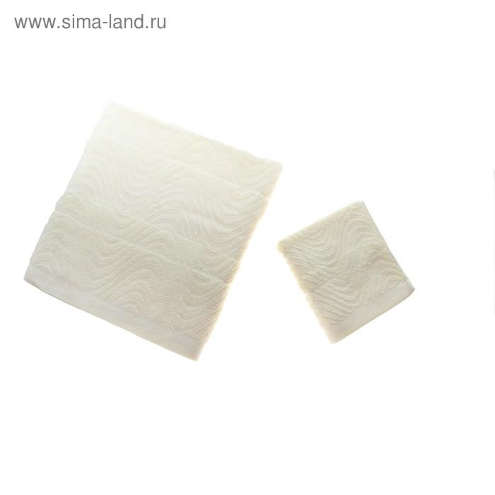 """Полотенце махровое """"Этель"""" Волна милк 34*76 см 100% хлопок, 350 гр/м2"""