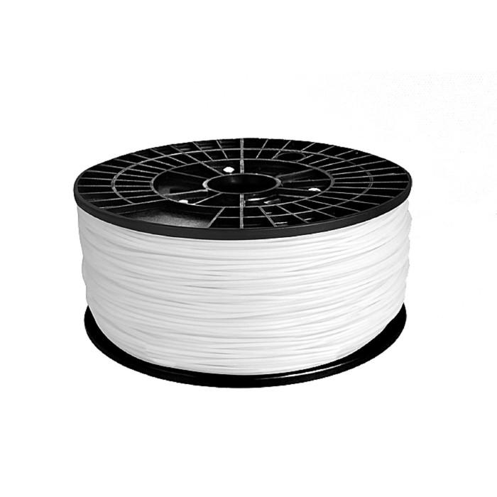 ABS-пластик, нить белого цвета, диаметр 1,75 мм, 1 кг