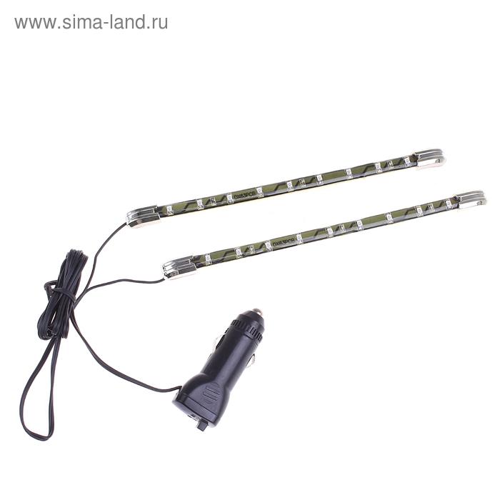 Подсветка салона LED, SD-035, 9 LED, 12 В, свет синий, цвет корпуса черный