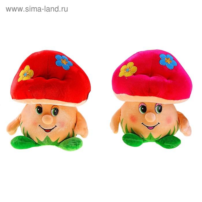 Мягкая игрушка «Гриб с цветочками» музыкальная, цвета МИКС