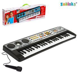 """Синтезатор """"Музыкальный взрыв"""", 49 клавиш, работает от батареек"""