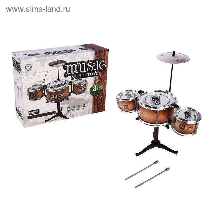 """Барабанная установка """"Музыка"""", с 3 барабанами"""