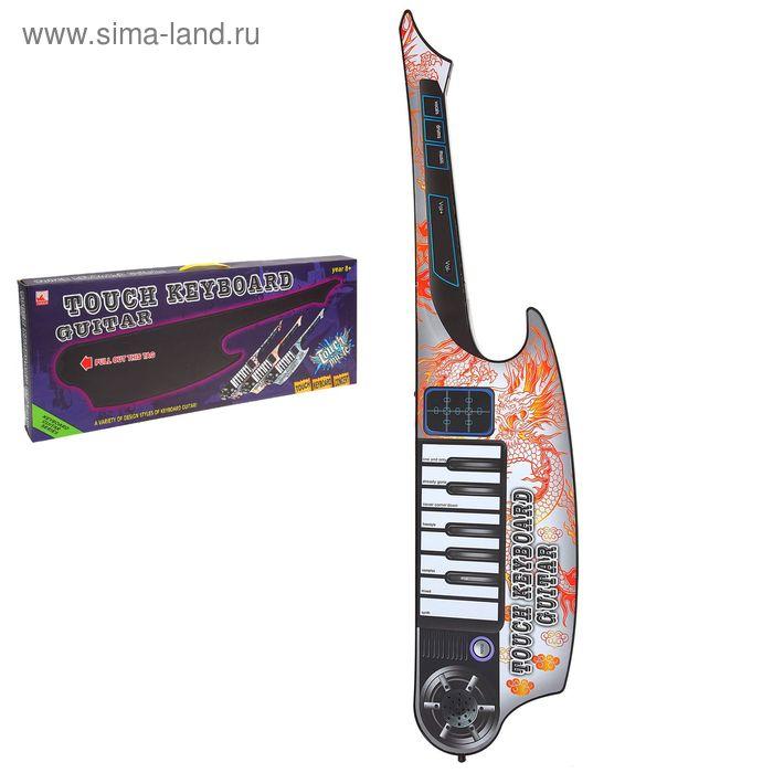 """Гитара сенсорная, """"Рок-Музыкант"""", звуковые эффекты,работает от батареек"""