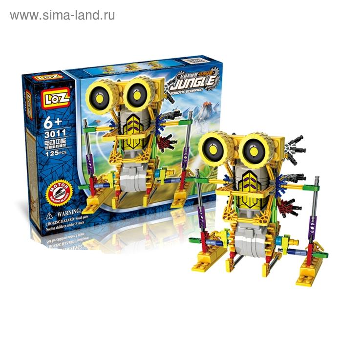 """Конструктор-робот """"Насекомое"""", работает от батареек, 125 деталей"""