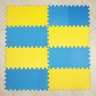 Мягкий пол универсальный, желто-синий