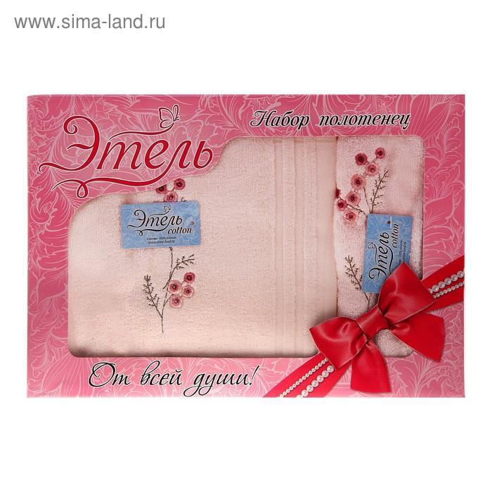 Набор полотенец Анжела пинк 34*76 см, 70*140 см