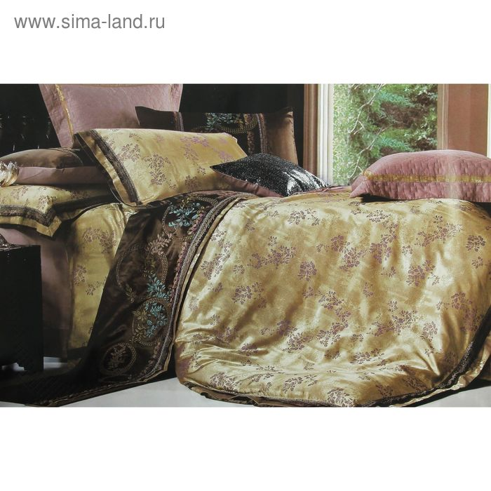 """Постельное бельё """"Роял"""" евро Севилья 200*220 см, 220*240 см, 48*74 + 5 см - 2 шт."""