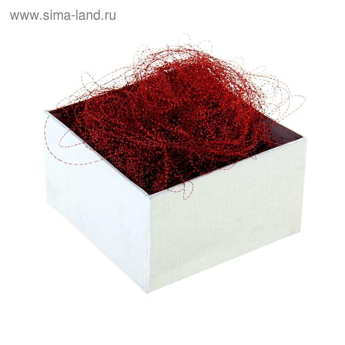 Наполнитель декоративный гофрированный 10гр, цвет красный