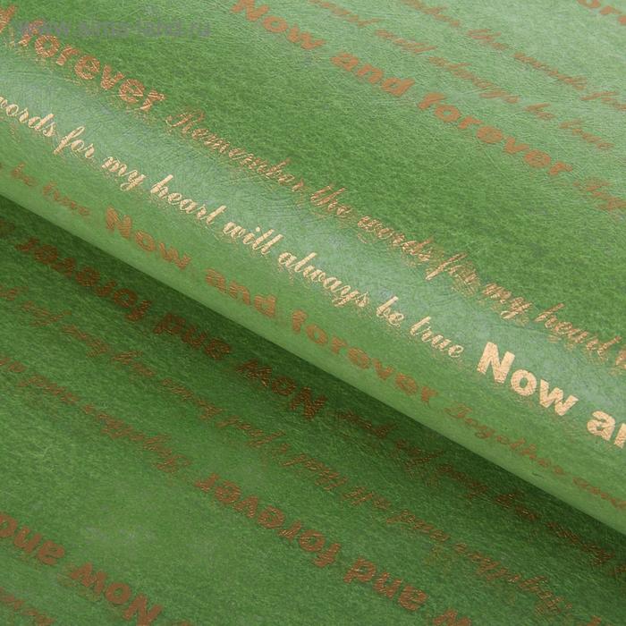"""Пленка двухсторонняя """"Пожелания"""", цвет зеленый"""