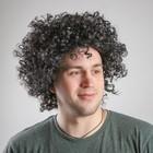 """Карнавальный парик """"Объём"""", цвет чёрный, 120 г"""