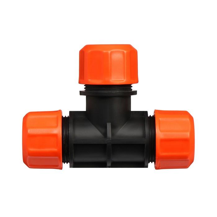 """Соединитель Т-образный, d=1/2"""" (12 мм), цанговое соединение, """"Жук"""""""