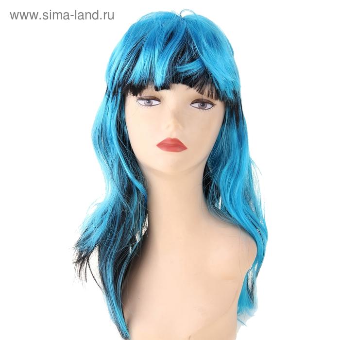 Карнавал парик длинные волосы сине-черные