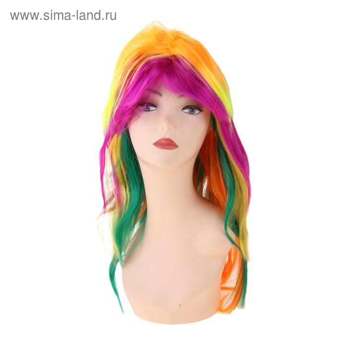 Карнавал парик радужная лесенка