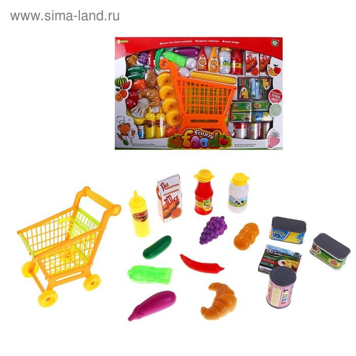 """Игровой набор """"Тележка с продуктами"""" (разборная), высота: 30,5 см"""