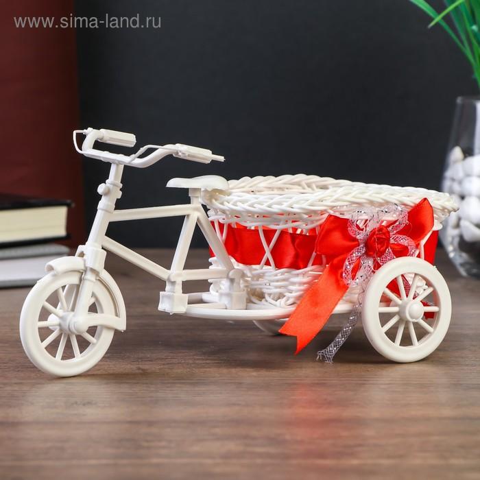 """Корзинка декоративная """"Велосипед с овальным кашпо"""""""