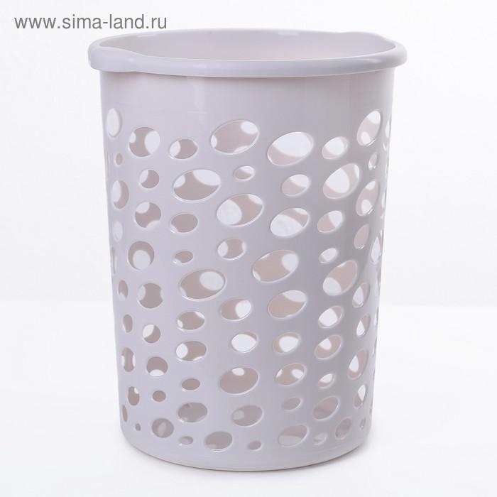 """Корзина для мусора 12 л """"Сорренто"""", цвет серый"""