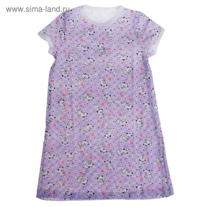 Сорочка для девочки 1084-56, с коротким рукавом, рост 92, цвета МИКС