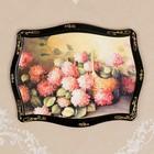Панно «Цветы», лаковая миниатюра, 16х22 см, микс