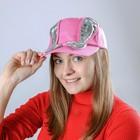 Карнавальная бейсболка с ушками, с бантом, розовая